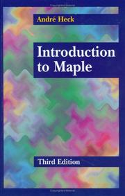 Cover of: Introduction to Maple