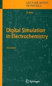 Cover of: Digital Simulation in Electrochemistry | Dieter Britz