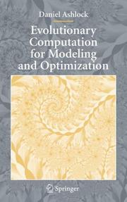 Cover of: Evolutionary Computation for Modeling and Optimization (Interdisciplinary Applied Mathematics)