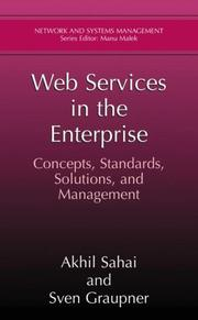 Cover of: Web Services in the Enterprise | Akhil Sahai
