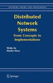 Cover of: Distributed Network Systems | Weijia Jia