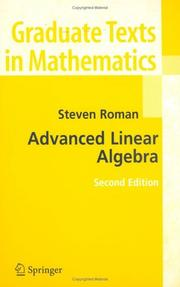 Cover of: Advanced linear algebra
