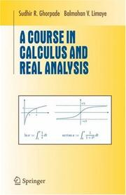 Cover of: A course in calculus and real analysis |