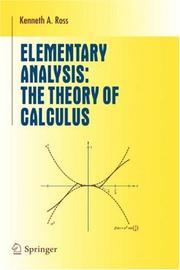Cover of: Elementary analysis