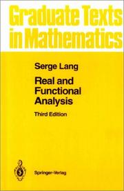 Cover of: Real and functional analysis
