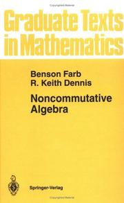 Cover of: Noncommutative algebra | Benson Farb