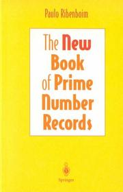 Cover of: The new book of prime number records | Paulo Ribenboim