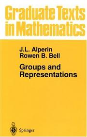 Cover of: Groups and representations