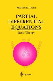 Cover of: Partial differential equations | Michael Eugene Taylor