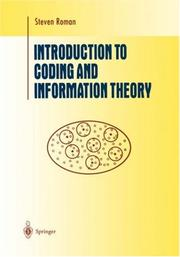 Cover of: Introduction to coding and information theory