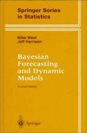 Cover of: Bayesian forecasting and dynamic models