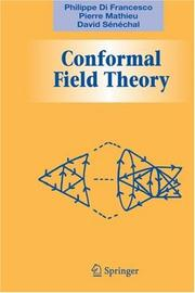 Cover of: Conformal field theory