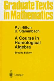 Cover of: A course in homological algebra