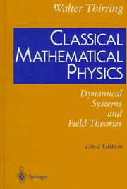 Cover of: Classical mathematical physics