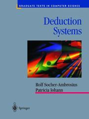 Cover of: Deduction systems