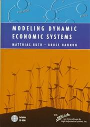 Cover of: Modeling dynamic economic systems
