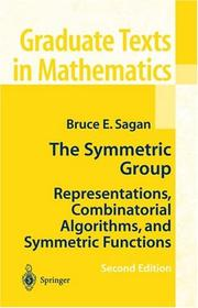 Cover of: The Symmetric Group | Bruce E. Sagan
