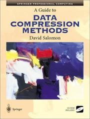 Cover of: A Guide to Data Compression Methods
