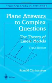 Plane answers to complex questions by Christensen, Ronald