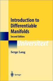 Cover of: Introduction to differentiable manifolds