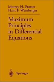 Cover of: Maximum Principles in Differential Equations | Murray H. Protter