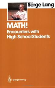Cover of: Math!: encounters with high school students