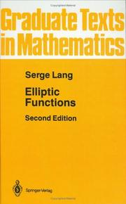 Cover of: Elliptic functions | Serge Lang