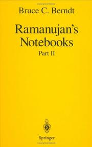 Cover of: Ramanujan's Notebooks | Bruce C. Berndt