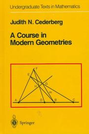 Cover of: A course in modern geometries