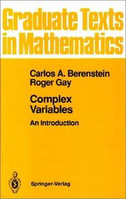 Cover of: Complex variables