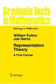 Cover of: Representation theory | Fulton, William