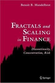Cover of: Fractals and scaling in finance