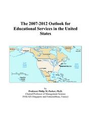 The 2007-2012 Outlook for Educational Services in the United States