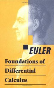 Cover of: Foundations of differential calculus