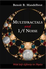 Cover of: Multifractals and 1/f noise