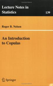 Cover of: An introduction to copulas
