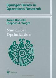 Cover of: Numerical optimization