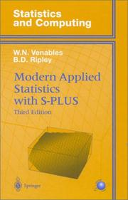 Modern applied statistics with S-Plus by W. N. Venables