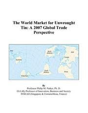The World Market for Unwrought Tin