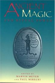 Cover of: Ancient Magic and Ritual Power (Religions in the Graeco-Roman World (Reprint), V. 129) |