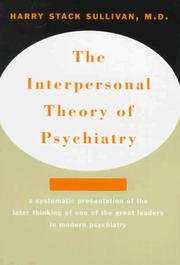Cover of: The interpersonal theory of psychiatry