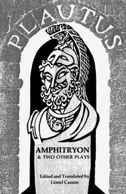 Cover of: Amphitryon, and two other plays