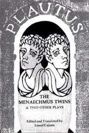 Cover of: The Menaechmus twins and two other plays