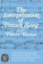 The interpretation of French song by Pierre Bernac