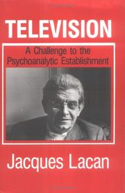 Cover of: Télévision: a challenge to the psychoanalytic establishment