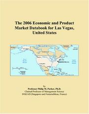 Cover of: The 2006 Economic and Product Market Databook for Las Vegas, United States | Philip M. Parker