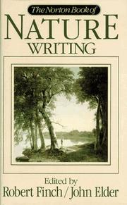 Cover of: The Norton book of nature writing