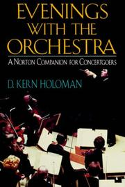 Cover of: Evenings with the orchestra: a Norton companion for concert goers