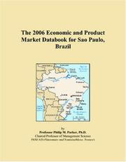 Cover of: The 2006 Economic and Product Market Databook for Sao Paulo, Brazil | Philip M. Parker