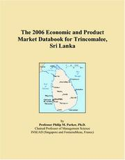 The 2006 Economic and Product Market Databook for Trincomalee, Sri Lanka